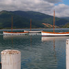 Outward Bound NZ training boats moored. New Zealand images.