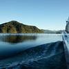Travelling across scenic Marlborough Sounds. New Zealand images.