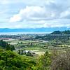 Crops line valley floor in South Island
