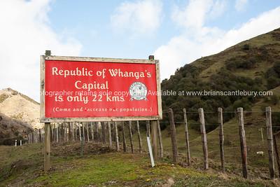 Whangamomona sign.