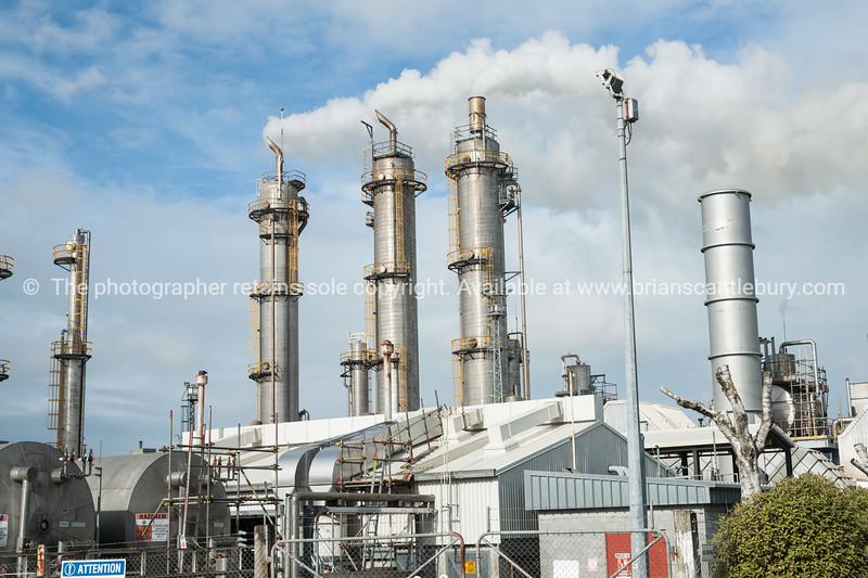 Shell Todd gas works, Taranaki. New Zealand.
