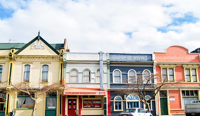 Wanganui street of old colourful buildings