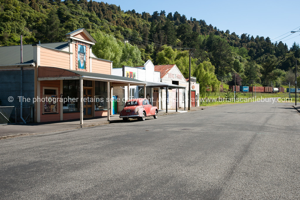 Street and buildings of Mangaweka.