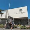 Statue of John Ballance outside Whanganui District Council building