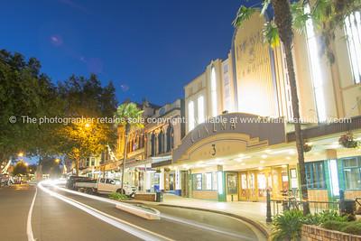 Night street scenes in city Wanganui
