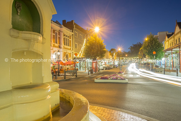 Night street scenes in city Wanganui