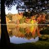 McLaren Lake autumn reflections. New Zealand Images.