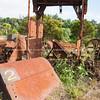 Old mining equipment in Karangahake Gorge, Waikato. New Zealand image.