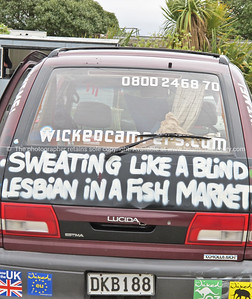 Wicked camper, wicked words.