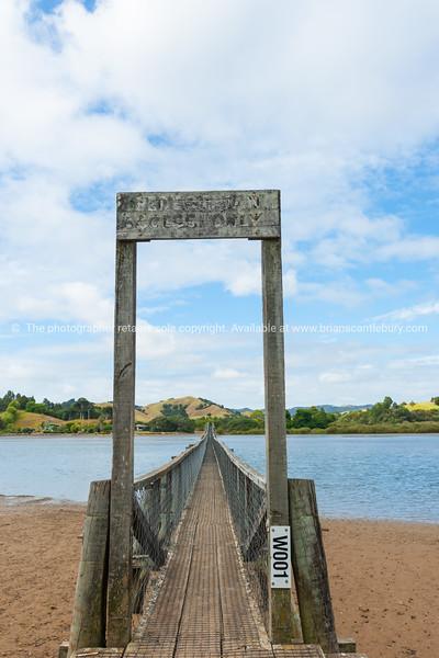 Whananaki bay and bridge