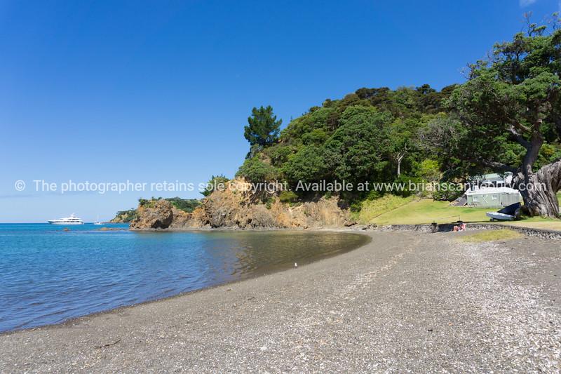 Typically Kiwi style remote scenic rocky bay  Church Bay Northland,New Zealand