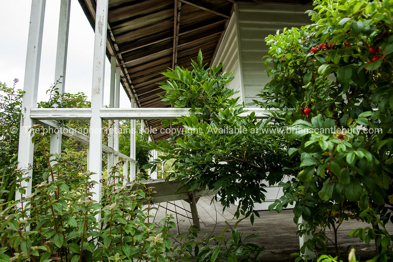 Veranda of the Mission House. Northland. New Zealand images.
