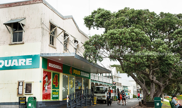 Four Square store at Russell. Northland. New Zealand images.