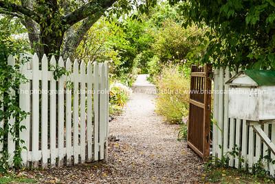 Garden entrance, to historic Mission House,  Kerikeri. Northland