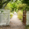 Garden entrance, to historic Mission House,  Kerikeri. Northland