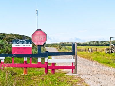 Tribal land barrier. Northland