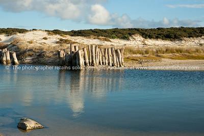 Calm lagoon behind Karikari Beach, Far North.