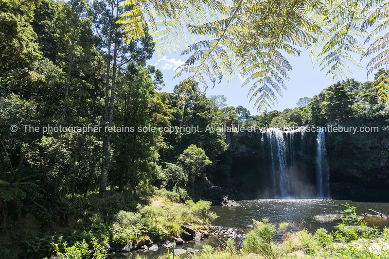 Rainbow Falls just out of Kerikeri on Kerikeri River in  Bay of Islands