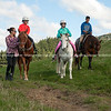 Tourist horse riding activity.
