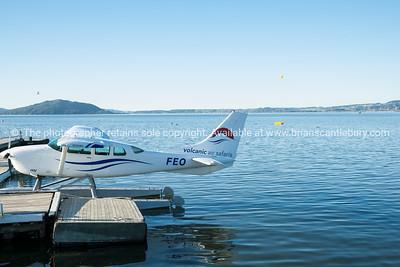 Float plane, Lake Rotorua waterfront.