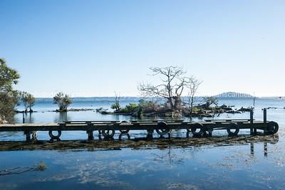 Jetty near Sulphur Bay on Lake Rotorua