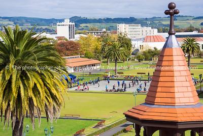 Rotorua Government Gardens from Bath House viewing platform.