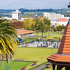Rotorua Government Gardens from Bath House viewing platform.