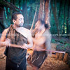 Warrior demonstration. Tamaki Maori Village.
