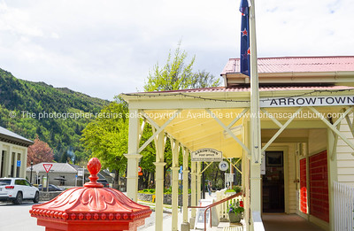 Street in popular tourist town of Arrowtown