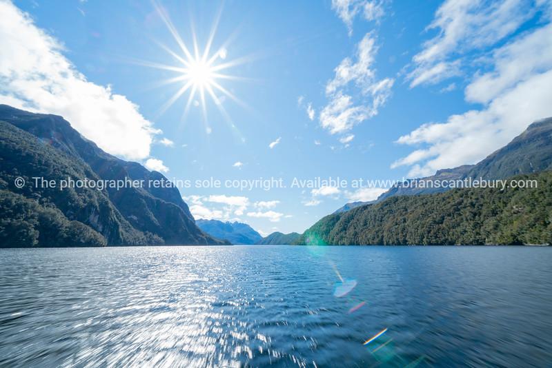 Mountains meet the sea of Doubtful Sound