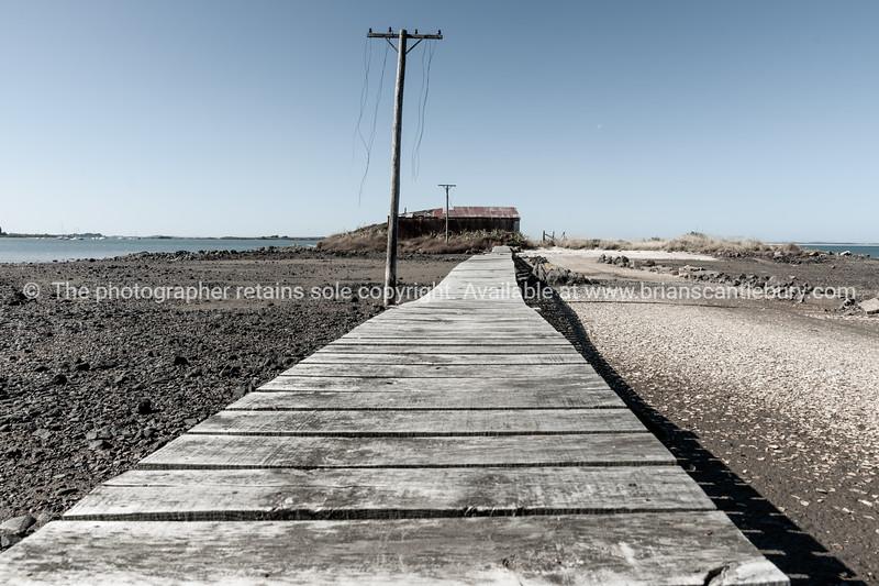 Rustic wooden walkway