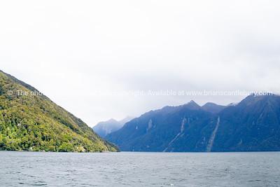 Scenic moody Lake Manapouri