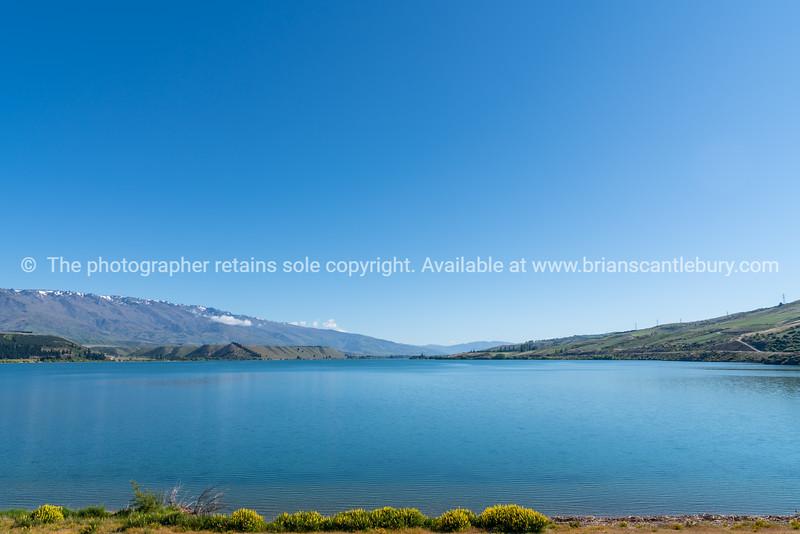 Beautiful Lake Dunstan landscape at Cromwell