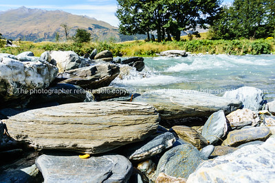 Large river rocks.