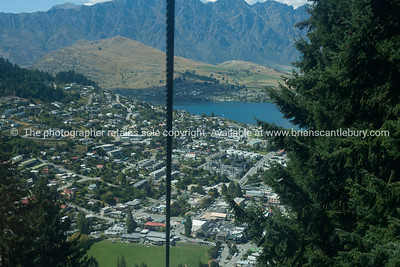 Queenstown from top of Bob's Peak a gondola ride from the town.