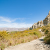 Walking track into Clay cliffs of Omarama