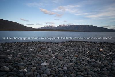Lake Te Anau looking along the length to Murchison Mountain Range