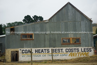Corrugated iron industrial building.