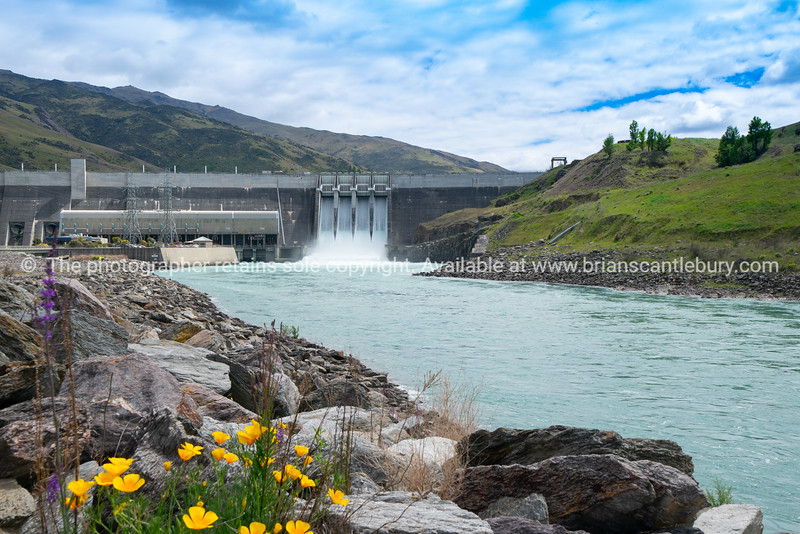 Clyde Hydro Power Station on Clutha River