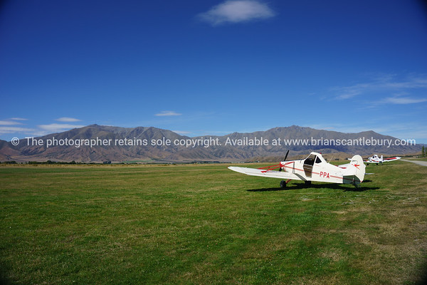 Plane on Omarama Airfield. South Island