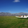Plane on Omarama Airfield. South Island