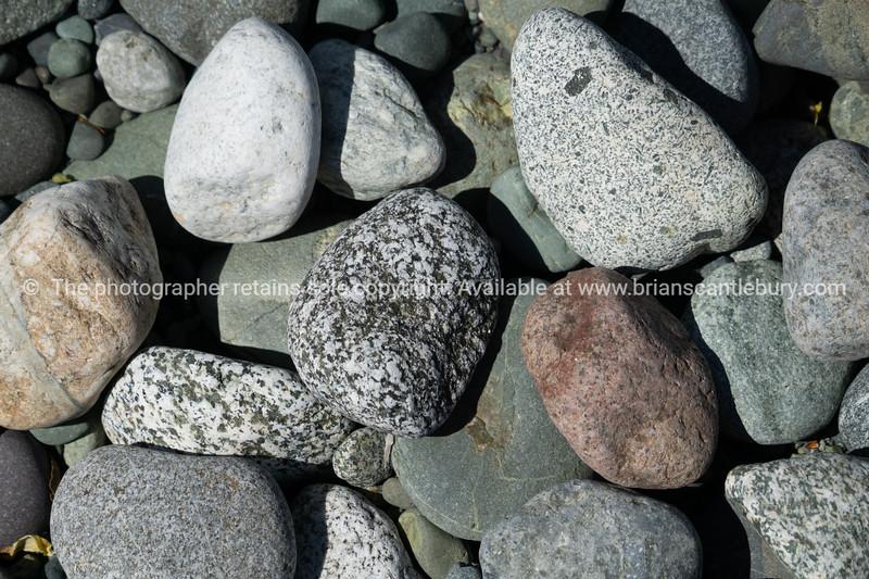 Random group of river stones