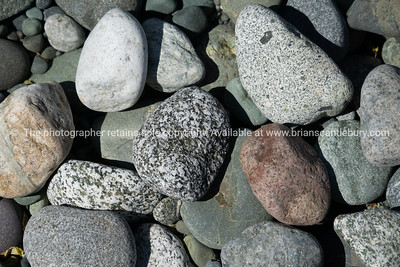 Random group of river stones