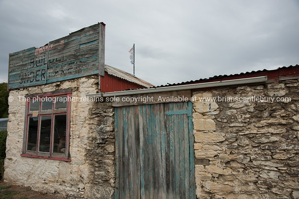 Old builders and undertakers building, Clyde, Otago, New Zealand.
