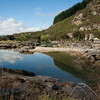 Reflective pool on edge of Clutha River