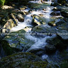 Flowing stream. Clean clear stony river on Routeburn Track.