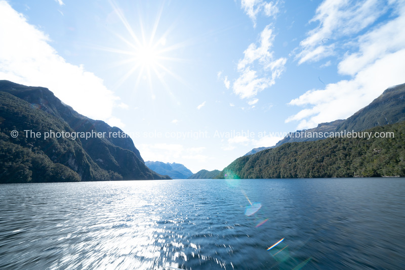 Mountains meet the sea of Doubtful Sound