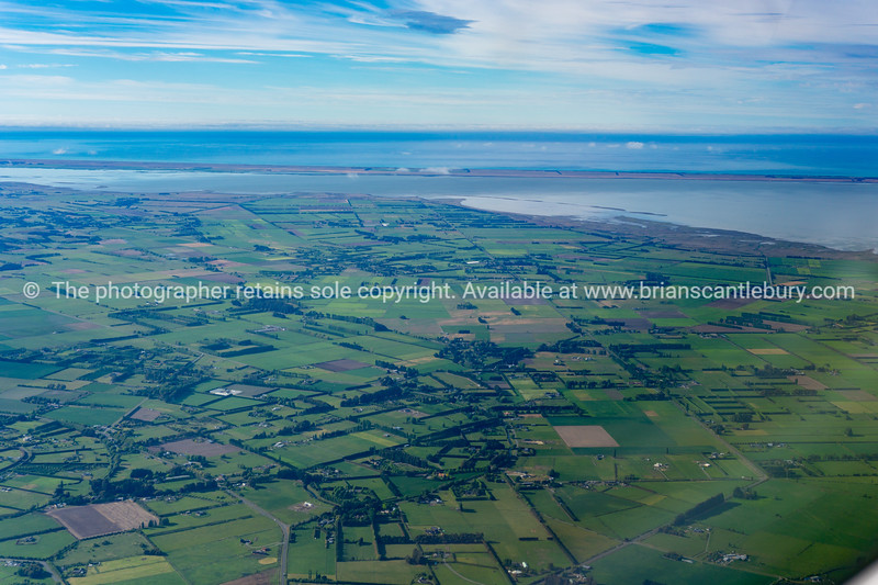 Aerial landscape of Soutland rual and coastal