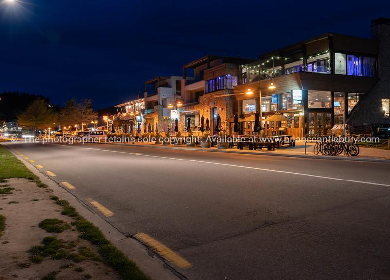 Wanaka streets at night