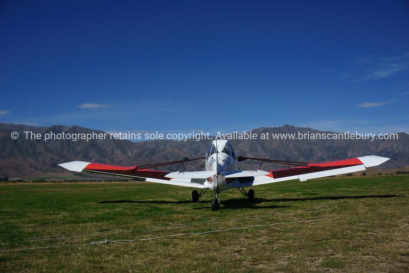 Plane on Omarama Airfield.